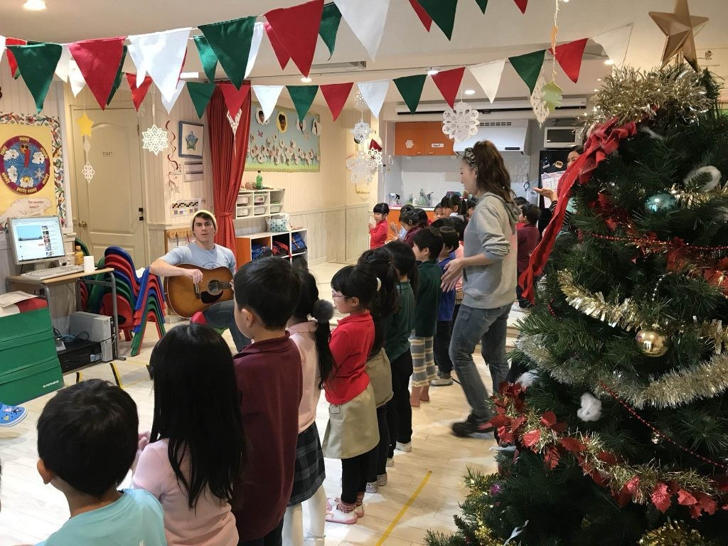 国分寺|インターナショナル・キンダーガーデン|クリスマスの合同練習
