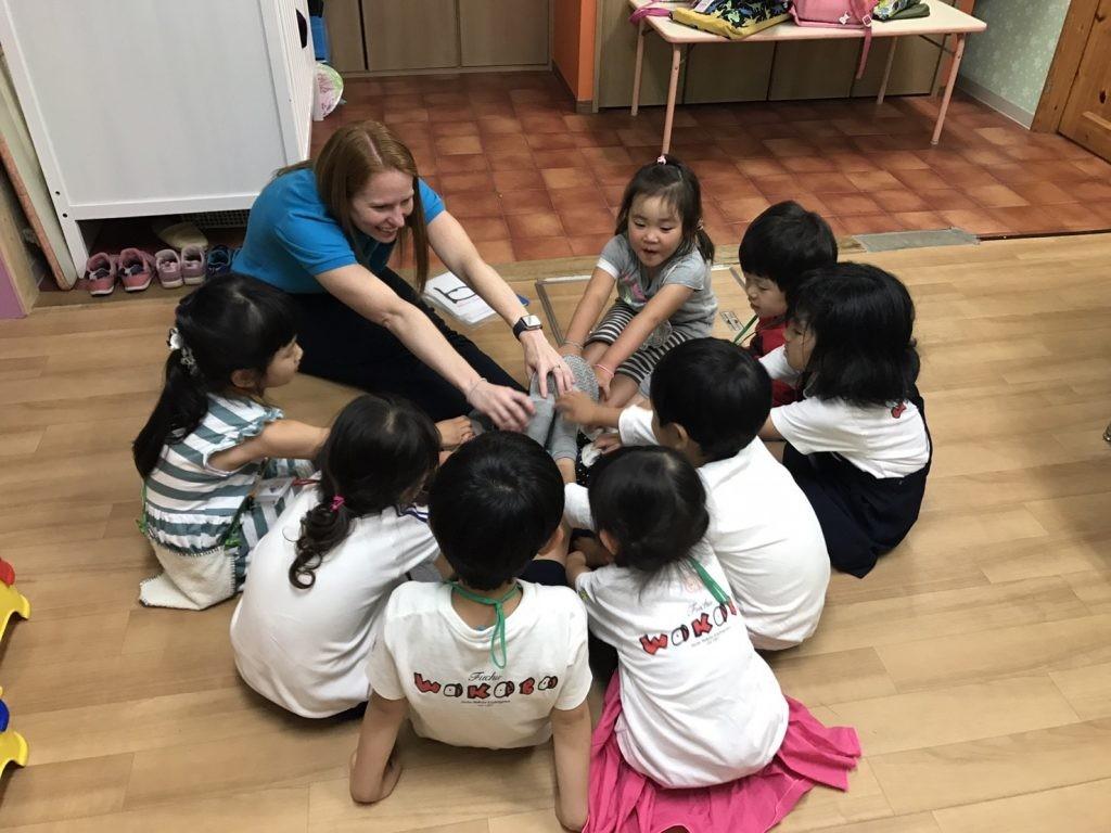 府中|英会話・午後の幼稚園生2時間クラス|6月の様子