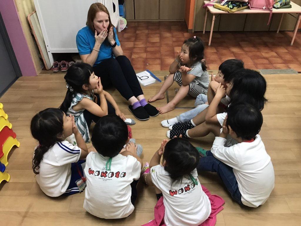 府中|英会話・幼稚園生2時間クラス・Afternoon Kinder|クラスの様子