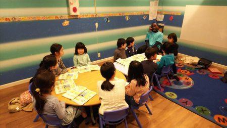 国分寺|英会話・小学生2時間クラス|Inter Kids2月のクラスの様子