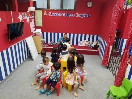 府中|英会話(幼稚園生50分ショートコース)|music chair