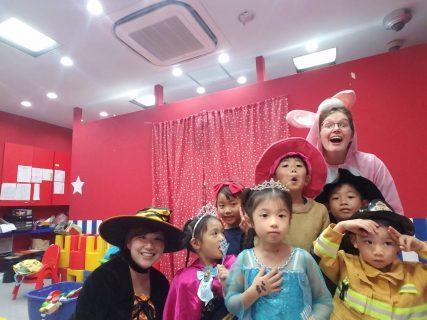 府中|英会話・小学生・ショートクラス|Monday Halloween class party