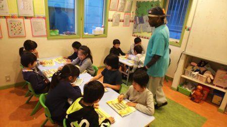 国分寺|英会話クラス(小学生ロングコース・ショートコース)11月のレッスンの様子